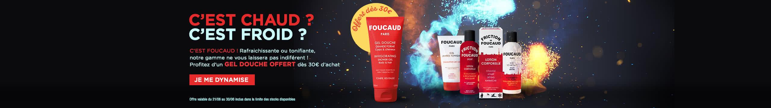 Gel Douche Foucaud offert dans toutes les commandes de 30 € ou plus